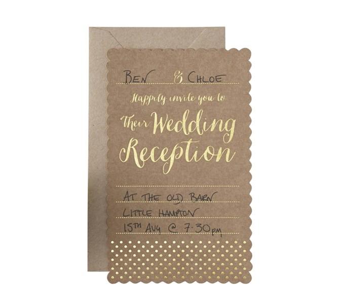 Inbjudan till Bröllopsfest Natur 10st