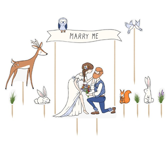 Cake toppers merry me