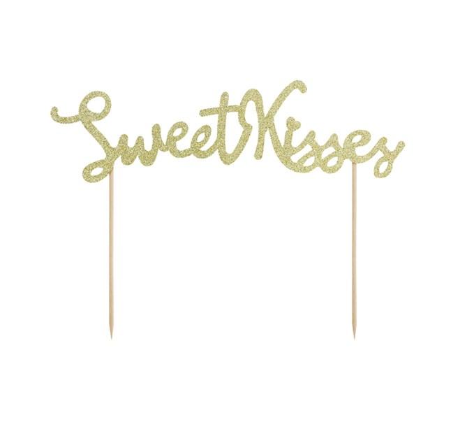 "Tårtdekoration ""Sweet Kisses"""
