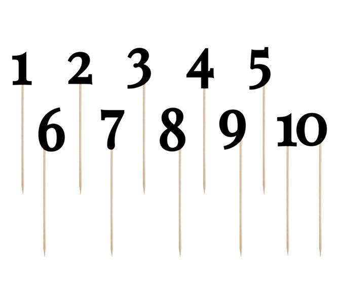 Siffror i svart 1-10