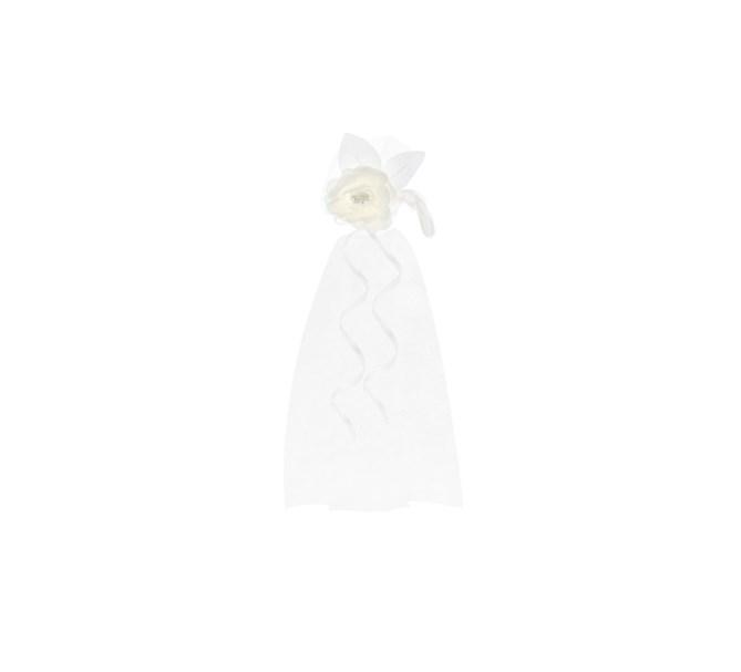 Dekoration Bröllop med fjädrar creme/vit, 2-pack