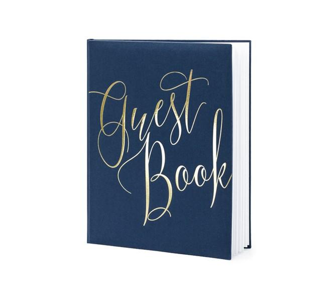 Gästbok Marinblå