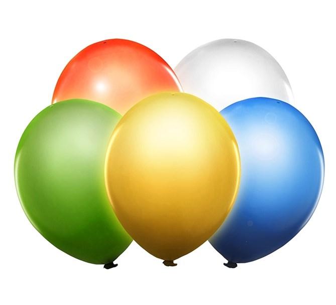 LED-ballonger gula, 5-pack