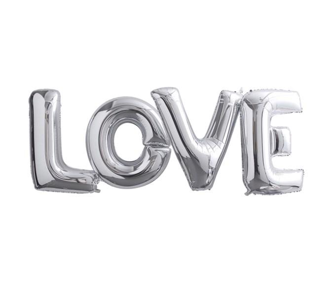 "Ballonggirlang ""Love"" Silver"