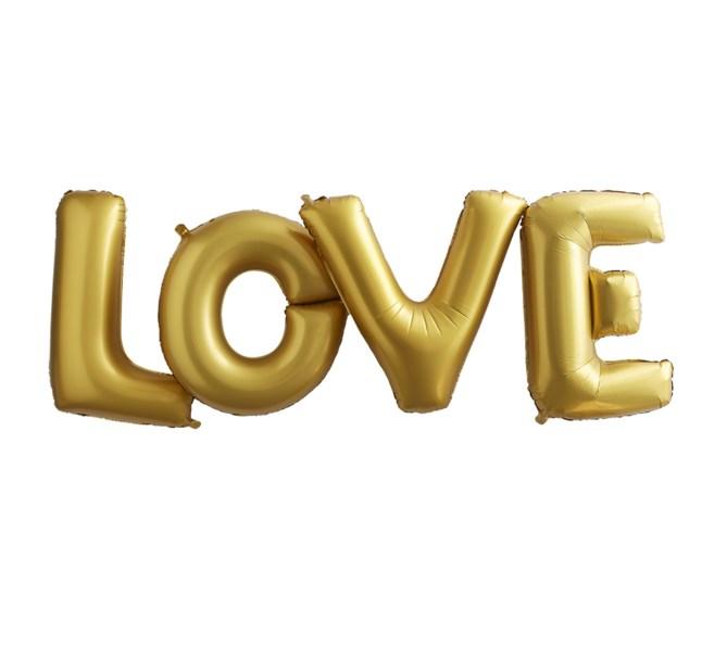 "Ballonggirlang ""Love"" Guld"