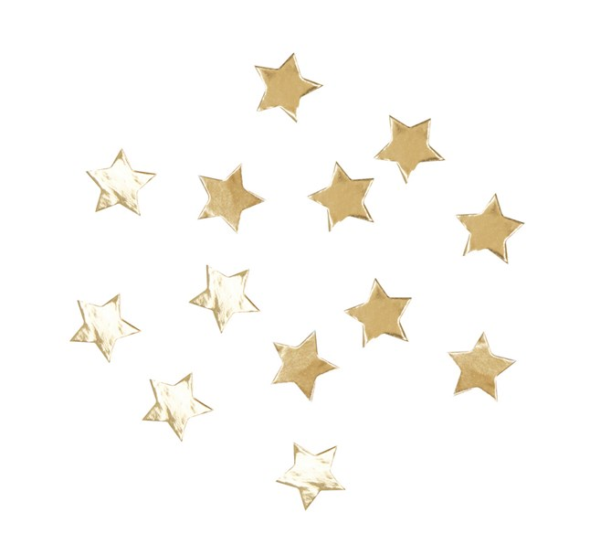 Konfetti Guld Stjärnor