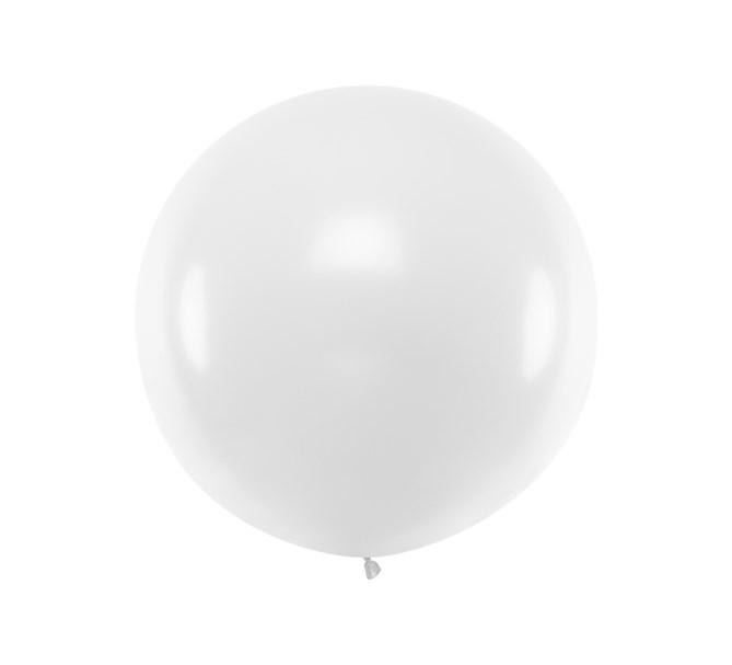 Ballong vit pastell 1 m.