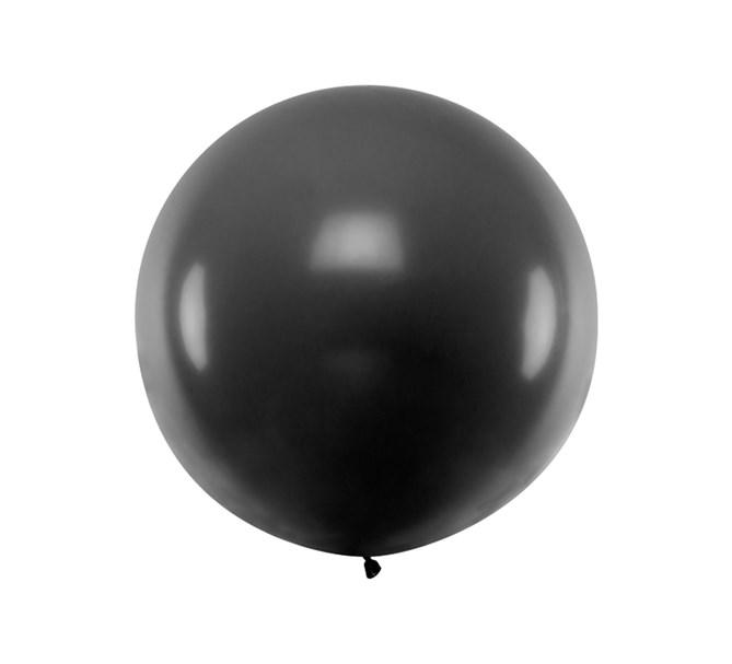 Ballong svart pastell 1 m.