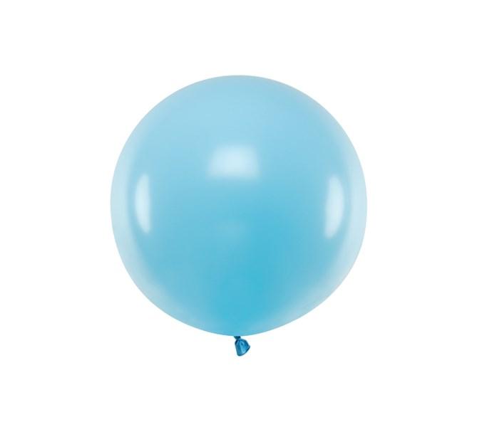 Ballong ljusblå pastell 60 cm.