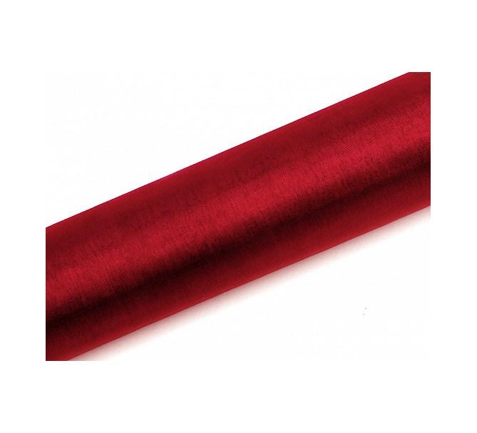 Organzatyg Röd,16 cm och 36 cm
