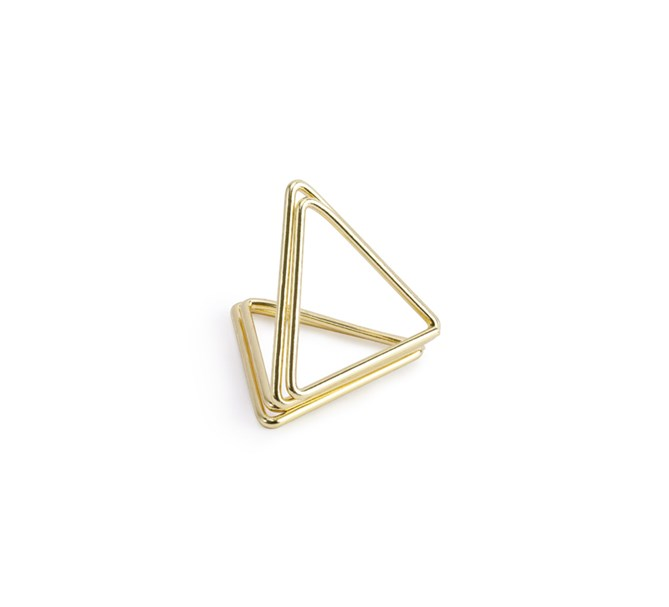 Placeringskortshållare pyramid guld, 10-pack