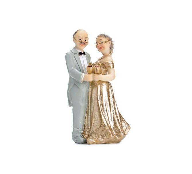 Tårtdekoration Guld Bröllop