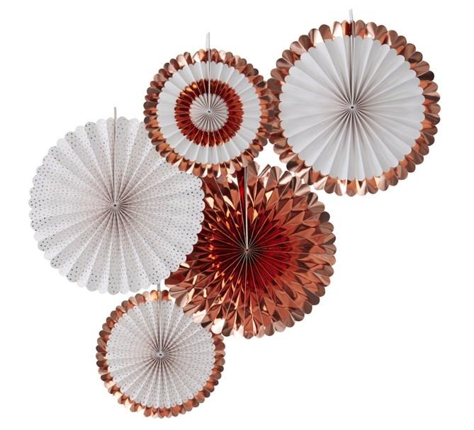 Dekorationsrosetter roséguld, 5st