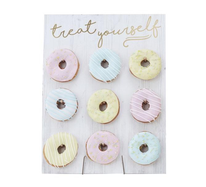 Donut tavla vit/guld