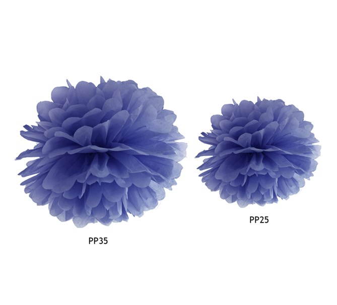 Pompom Mörkblå, 1 st.