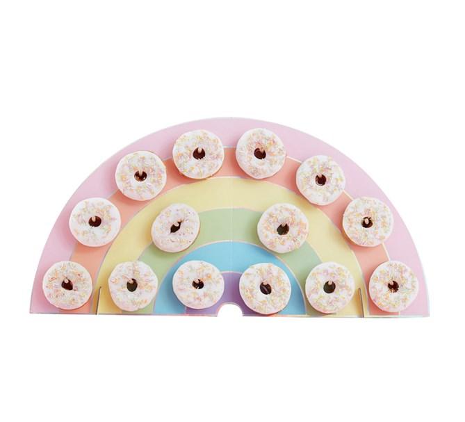 Donutstavla Regnbåge