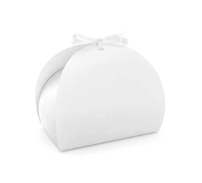 Kakbox/presentlåda vit, 10-pack