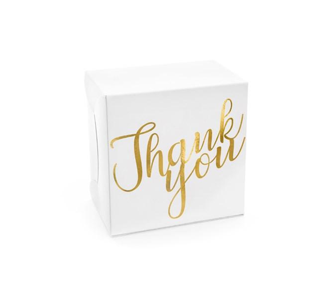 """Stora presentaskar """"Thank you"""" guld, 10 st"""
