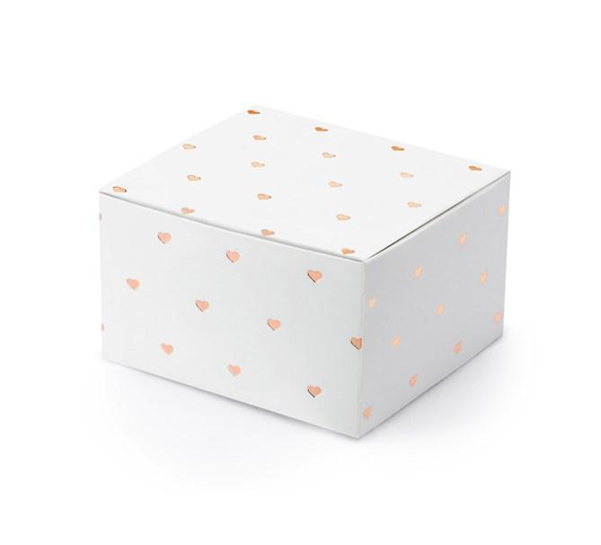 Presentask hjärtan rosé, 10-pack