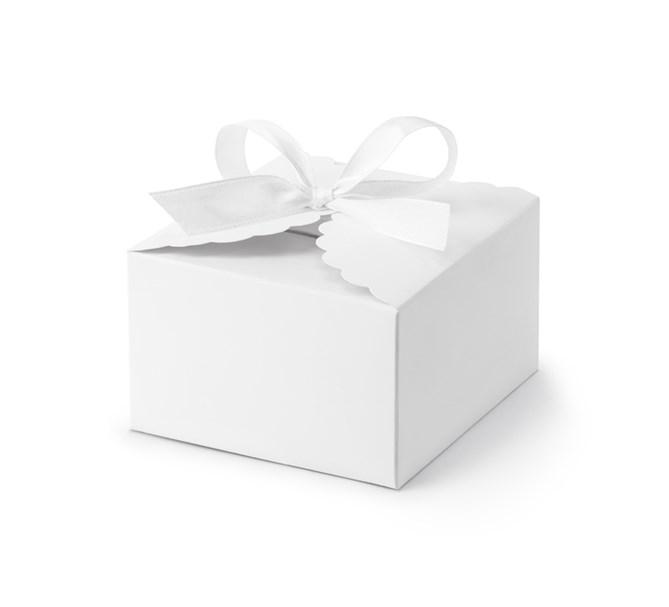 Presentask vit med band, 10-pack