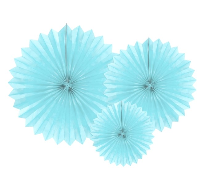 Dekorationsrosetter ljusblå 3 st