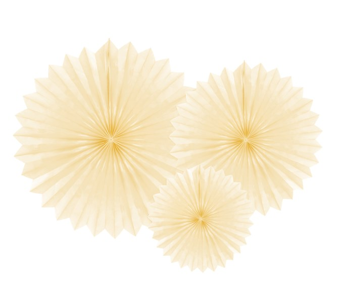 Dekorationsrosett Ivory, 3st