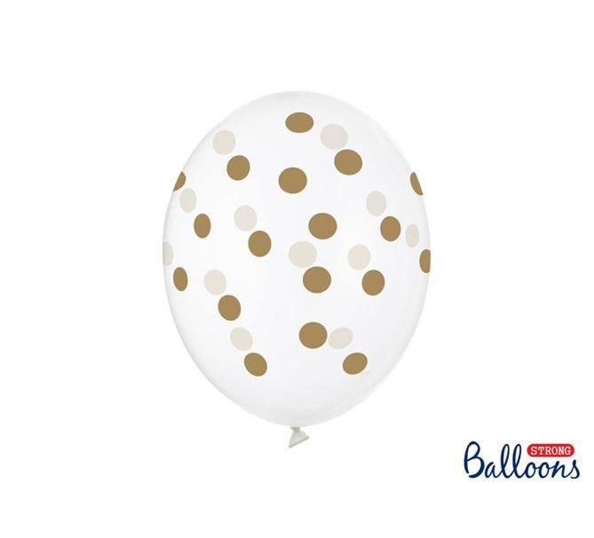Ballonger Guld prickar 6-pack