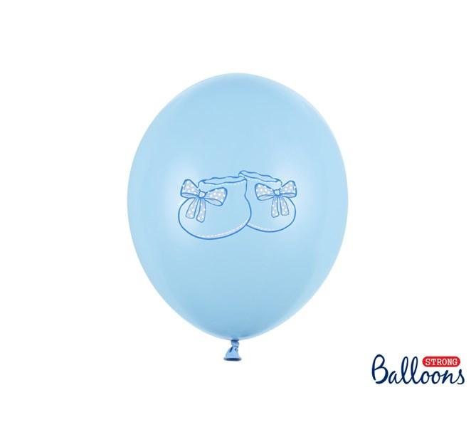 Ballonger blå babysko, 6-pack