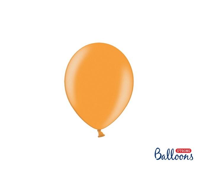 Ballong mini orange metallic, 10-pack