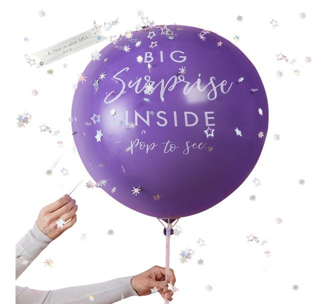 Ballong med personligt meddelande inuti, 91 cm.