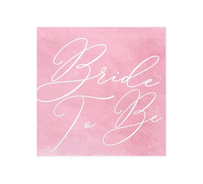 "Servetter ""Bride to be"", 20-pack"