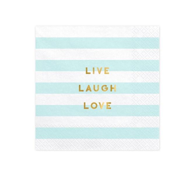 Servetter Live Laugh Love, 20-pack