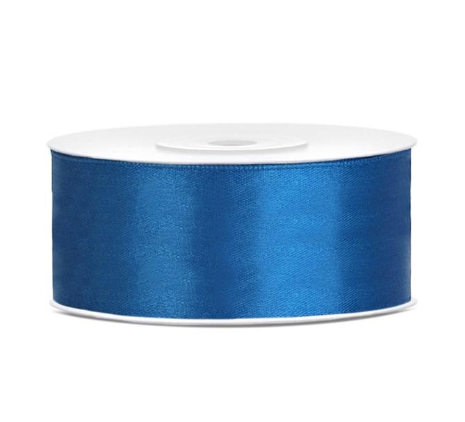 Satinband Blå
