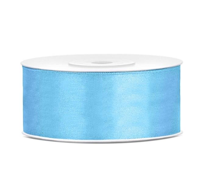 Satinband Ljusblå