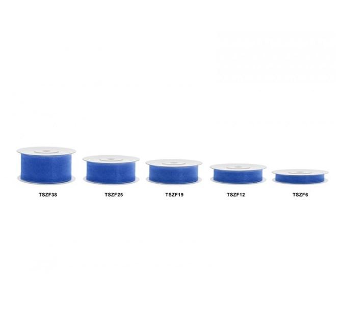 Chiffongband Kungligt blå, 12 mm