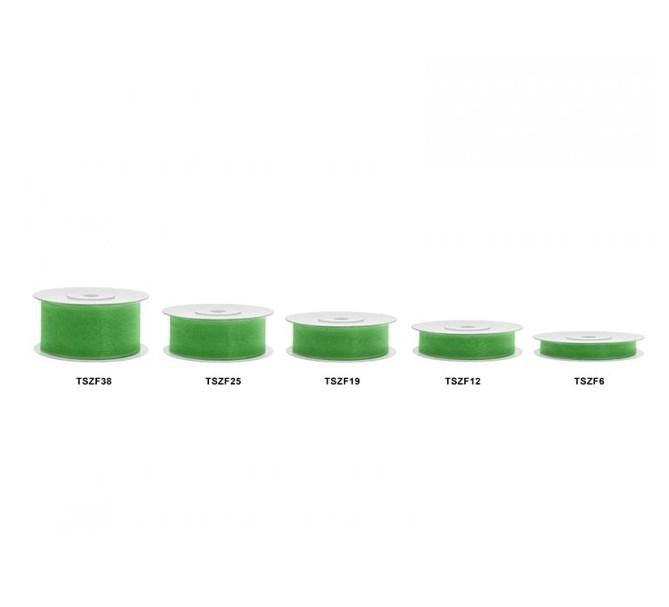 Chiffongband Smaragdgrön