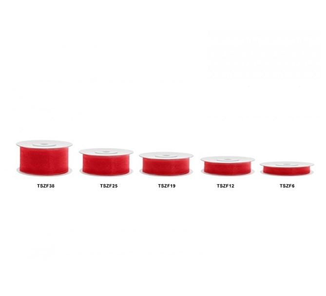 Chiffongband Röd