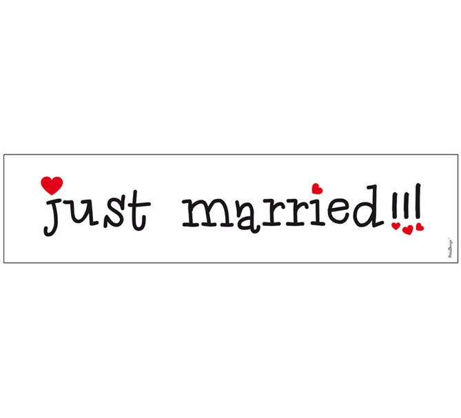 Bilskylt Bröllop Just Married 2 st