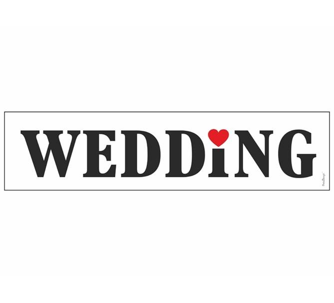 Bilskylt Bröllop Wedding 2 st