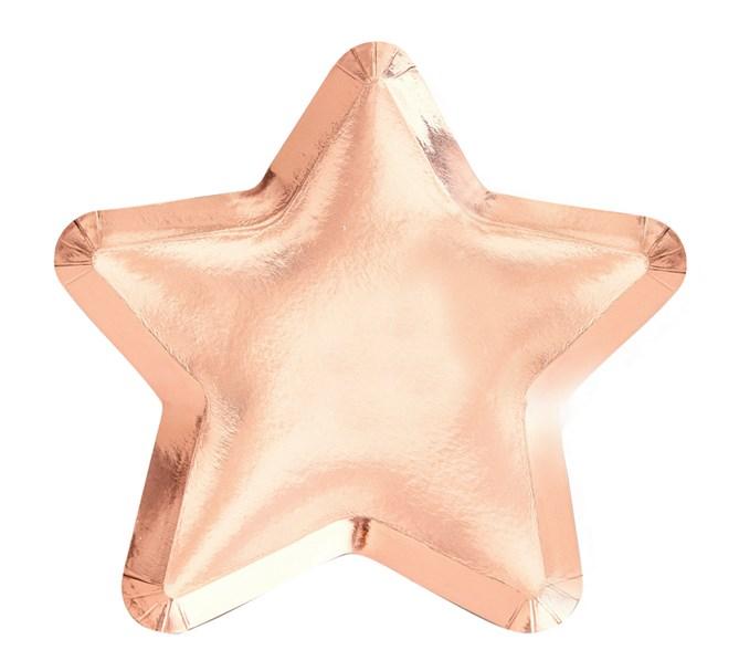 Tallrik stjärna rosé, 8-pack