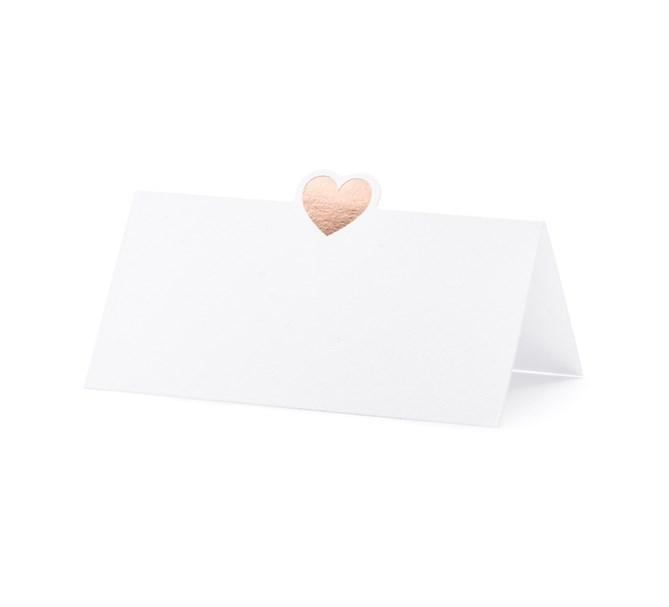 Placeringskort rosehjärta, 10st
