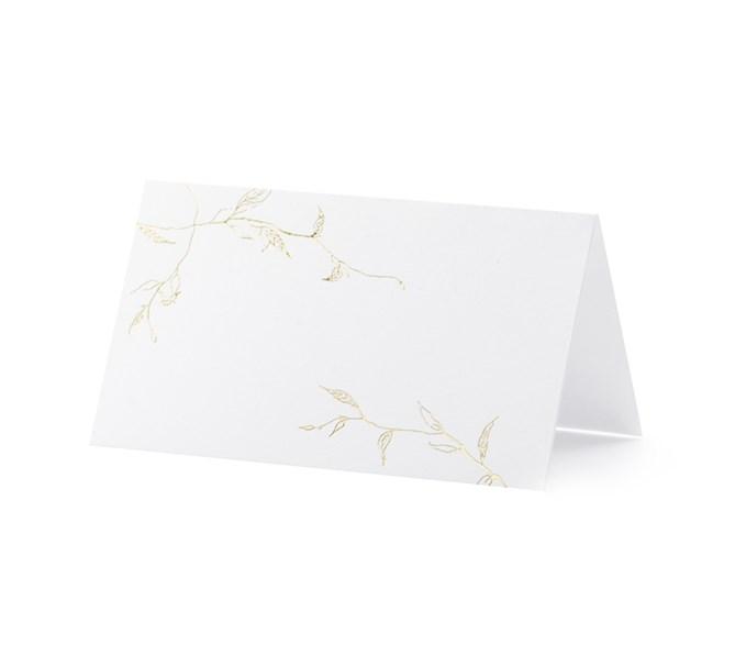 Placeringskort guldlöv, 10st
