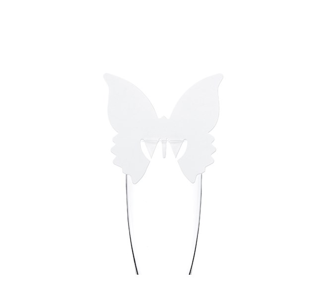 Placeringskort till glas Fjäril, 10 st