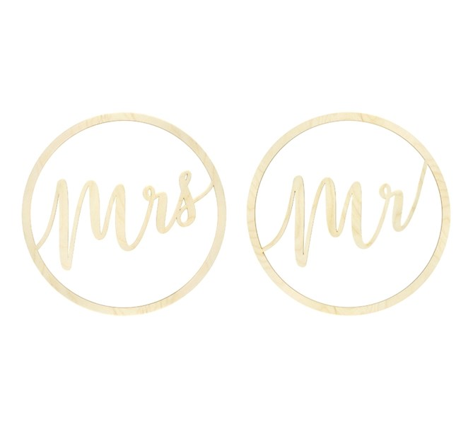 Träringar Mr & Mrs