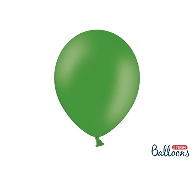 Ballonger pastell Mörkgrön 23 cm, 10-pack