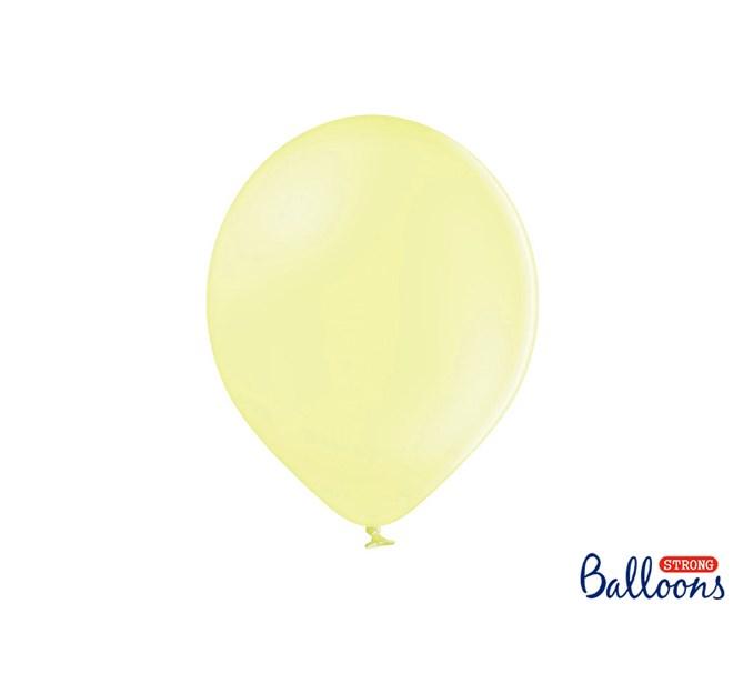 Ballonger pastell matt gul, 10-pack
