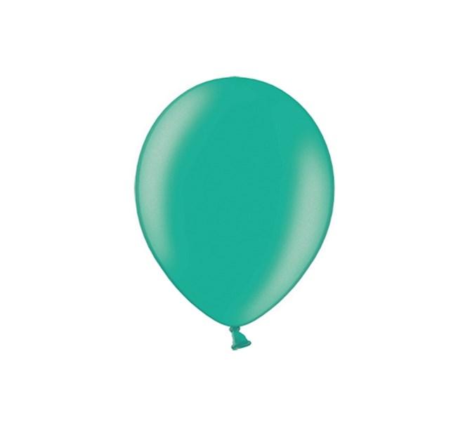 Ballonger Metallic Grön 35 cm, 10-pack