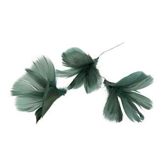 Fjäder blomma grönblå,12-pack
