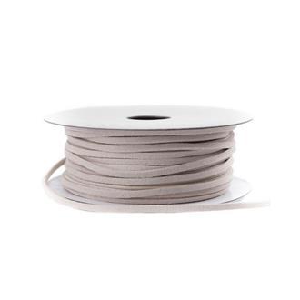 Band i konstgjort läder Creme 3 mm, metervara