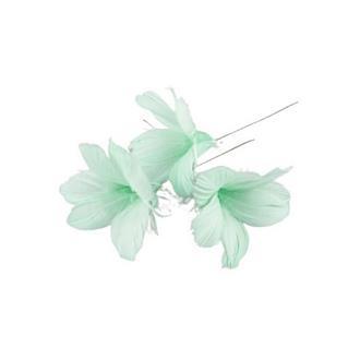 Fjäder blomma ljus turkos 12-pack